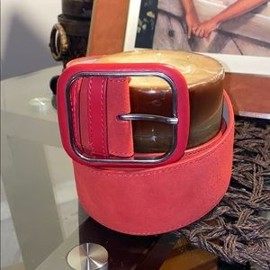 United Colors of Benetton Suede Belt Red  Sz M